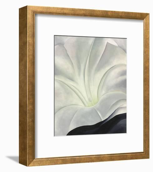 Morning Glory with Black, 1926-Georgia O'Keeffe-Framed Art Print