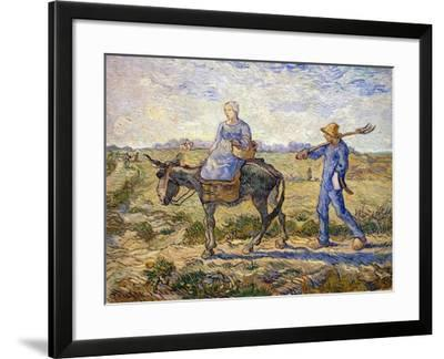 Morning: Going Out to Work, 1890-Vincent van Gogh-Framed Giclee Print