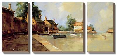 Morning Harbor-Ted Georschner-Canvas Art Set