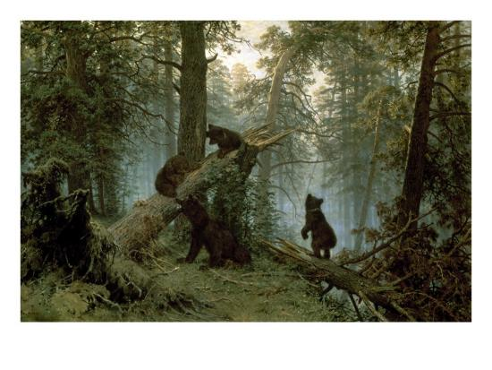 Morning in a Pine Forest-Ivan Ivanovitch Shishkin-Premium Giclee Print