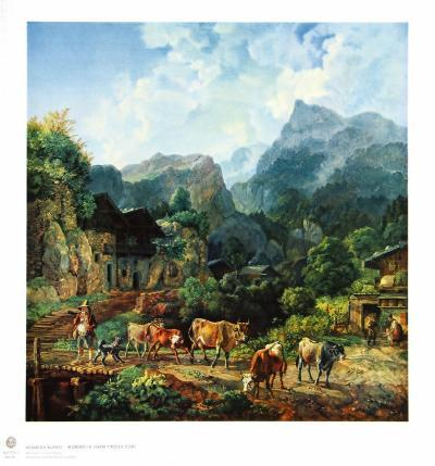 Morning in a Tirolese Village-Johann Heinrich B?rkel-Collectable Print