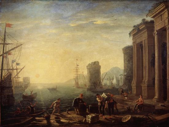 Morning in the Harbour, 1630S-Claude Lorraine-Giclee Print