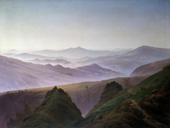 Morning in the Mountains, before 1823-Caspar David Friedrich-Giclee Print