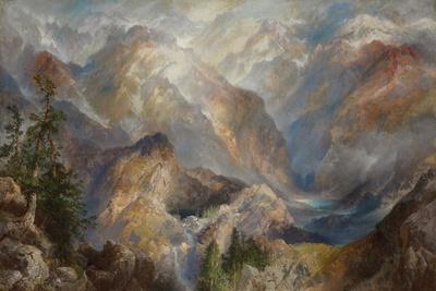Thomas Moran Morning in the Sierras Nevada Giclee Canvas Print