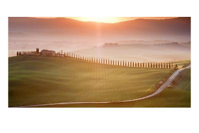 Morning in Val d'Orcia-Marcin Sobas-Photographic Print
