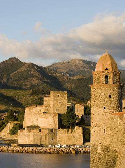 Morning Light, Eglise Notre-Dame-Des-Anges, Collioure, Pyrenees-Orientales, Languedoc, France-Martin Child-Photographic Print