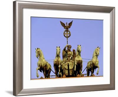 Morning Light on Brandenburg Gate, Unter Den Linden, Berlin, Germany-Walter Bibikow-Framed Photographic Print