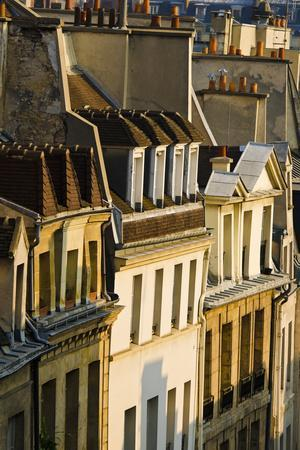 Morning Light on Houses in the Latin Quarter, Paris, France-Russ Bishop-Photographic Print