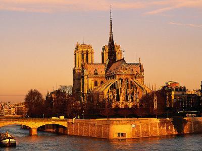 Morning Light on Notre Dame, Paris, France-Walter Bibikow-Photographic Print