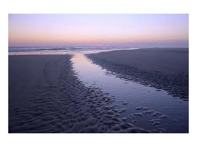Morning light on the beach, Langeoog, East Frisian Islands, Lower Saxony, Germany--Art Print
