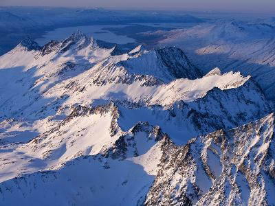 Morning Light on the Chigmit Mountains, a Subrange of the Aleutians.-Ian Shive-Photographic Print