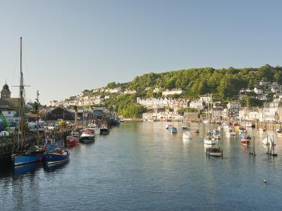 Morning Light on the River Looe at Looe in Cornwall, England, United Kingdom, Europe-David Clapp-Photographic Print