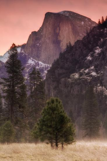 Morning Mist and Half Dome-Vincent James-Photographic Print