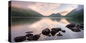 Morning Mist on Jordan Pond, Acadia National Park, Maine, USA