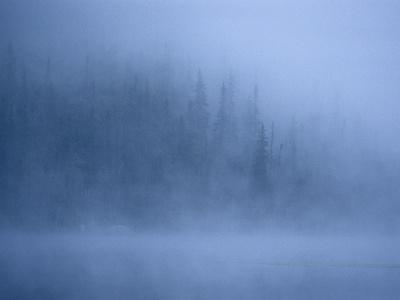 Morning Mist Rises Off a Lake in Algonquin Park in Central Ontario-Kenneth Ginn-Photographic Print
