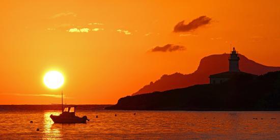 Morning mood at the Lighthouse of Alcanada, Alcudia, Majorca, Balearic Islands, Spain, Mediterranea-Hans-Peter Merten-Photographic Print