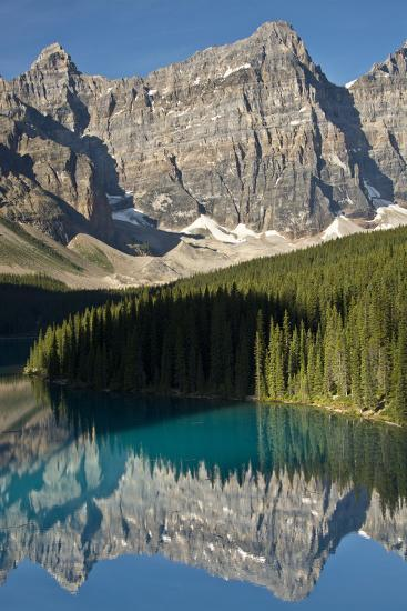 Morning, Moraine Lake, Reflection, Canadian Rockies, Banff National Park, Alberta, Canada-Michel Hersen-Photographic Print