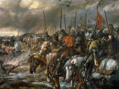 Morning of the Battle of Agincourt, 25th October 1415, 1884-Sir John Gilbert-Giclee Print