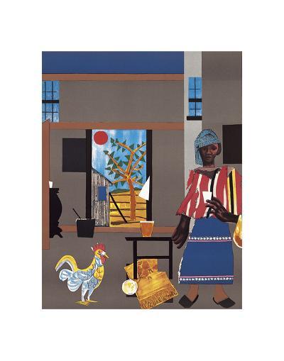 Morning of the Rooster, c.1980-Romare Bearden-Art Print