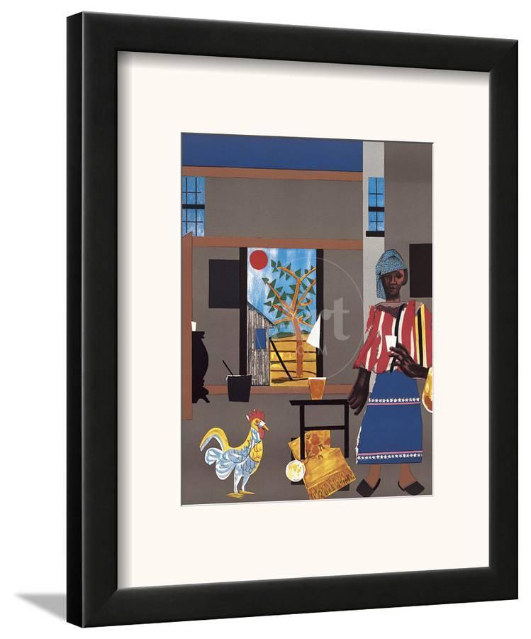 Morning Of The Rooster C1980 Framed Art Print By Romare Bearden