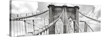 Morning on Brooklyn Bridge, NYC--Stretched Canvas Print