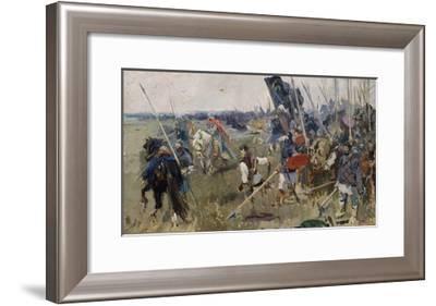 Morning on the Kulikovo Field in 1380 (Stud), 1944-Alexander Pavlovich Bubnov-Framed Giclee Print