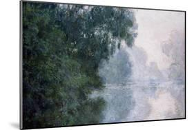 Morning on the Seine, Effect of Mist-Claude Monet-Mounted Giclee Print