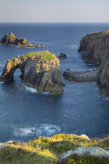 Morning over the Rocky Coastline Near Lands End, Cornwall, England-Brian Jannsen-Photographic Print