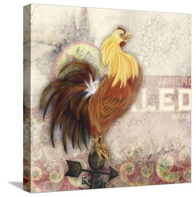 Morning Rooster-Alma Lee-Stretched Canvas Print