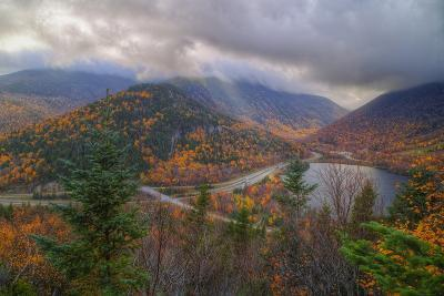 Morning Storm at Echo Lake in Autumn, New Hampshire-Vincent James-Photographic Print