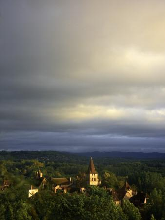 Morning Storm Clouds over Village of Carennac-Barbara Van Zanten-Photographic Print