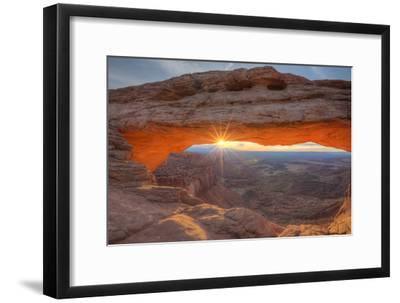 Morning Sun at Mesa Arch, Canyonlands, Southern Utah-Vincent James-Framed Photographic Print
