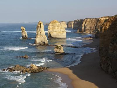 Morning Sun Lights Twelve Apostles, Tasman Sea, Port Campbell National Park, Victoria, Australia-Paul Souders-Photographic Print