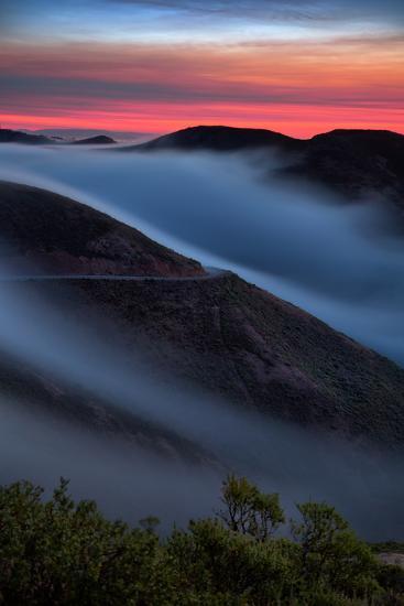 Morning Sunrise Fog Sweep, Marin Headlands, Northern California-Vincent James-Photographic Print