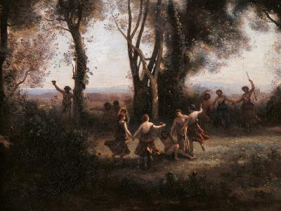 Morning. The Nymphs Dance-Jean-Baptiste-Camille Corot-Art Print