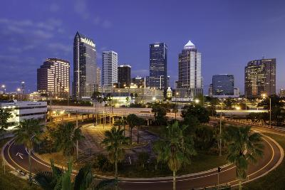Morning Twilight over the Skyline of Tampa, Florida, Usa-Brian Jannsen-Photographic Print