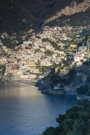 Morning View of Positano, Along the Amalfi Coast, Campania, Italy-Brian Jannsen-Photographic Print