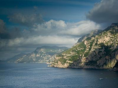 Morning View of the Amalfi Coast, Positano, Campania, Italy-Walter Bibikow-Photographic Print