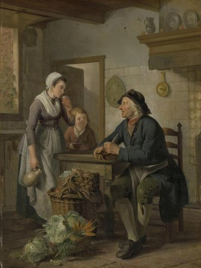 Morning Visit, 1796-Adriaen de Lelie-Giclee Print