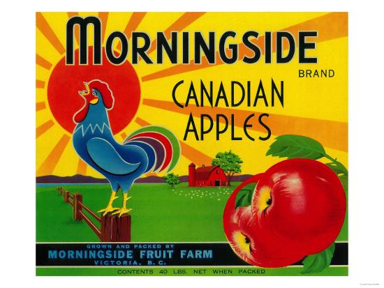 Morningside Apple Label - Canada-Lantern Press-Art Print
