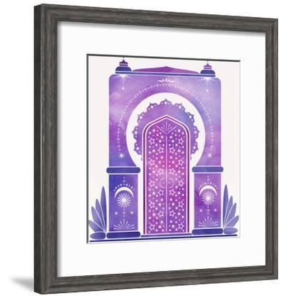 Moroccan Dreams-Modern Tropical-Framed Art Print