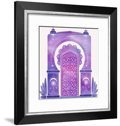 Moroccan Dreams-Modern Tropical-Framed Art Print