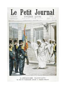 Moroccan Embassy, the Chief Ambassador Saluting the French Flag, 1901