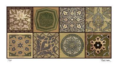 Moroccan Tiles - Gold-Paula Scaletta-Giclee Print