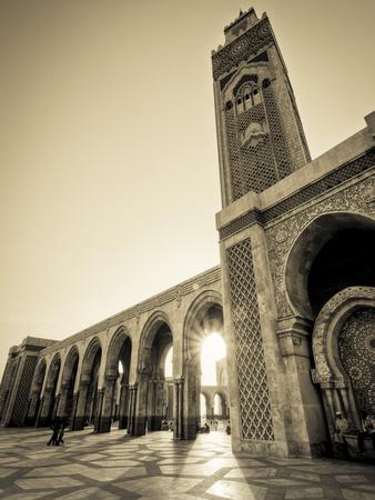 Morocco, Casablanca, Mosque of Hassan II-Michele Falzone-Photographic Print