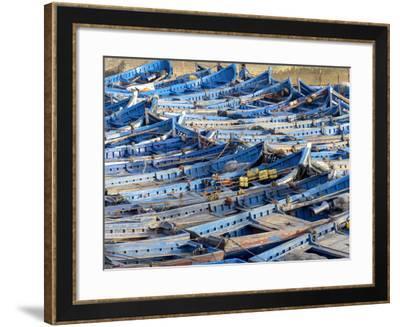 Morocco, Essaouira Fishing Port-Charles Bowman-Framed Photographic Print