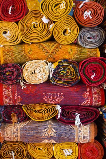 Morocco, Marrakech, Carpets in Market-Andrea Pavan-Photographic Print