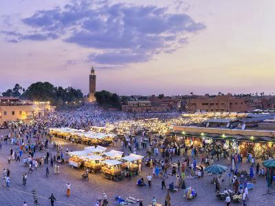 Morocco, Marrakech, Djemaa El-Fna Square-Michele Falzone-Photographic Print