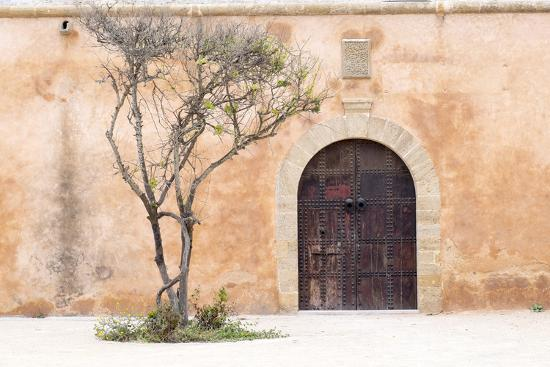 Morocco, Marrakech. Doorway Set into a Beige Way-Emily Wilson-Photographic Print