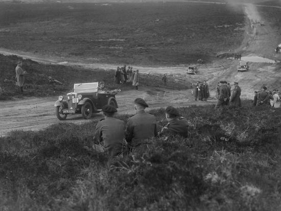 Morris Minor competing in a motoring trial, Bagshot Heath, Surrey, 1930s-Bill Brunell-Photographic Print